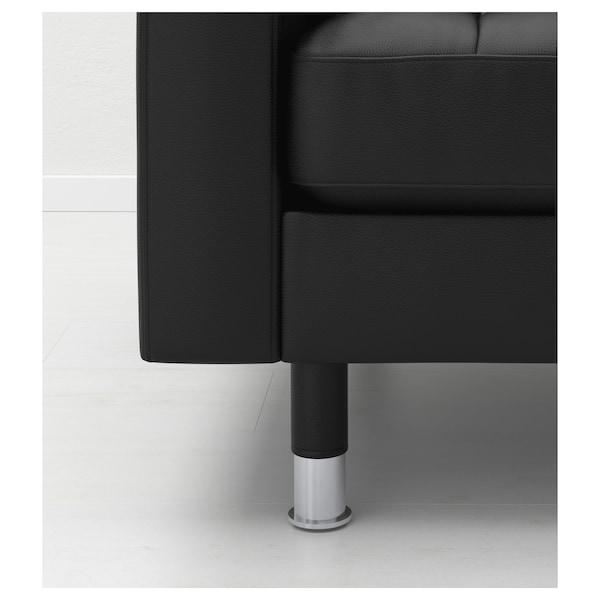 LANDSKRONA fotel Grann/Bomstad czarny/metal 89 cm 89 cm 78 cm 65 cm 61 cm 44 cm