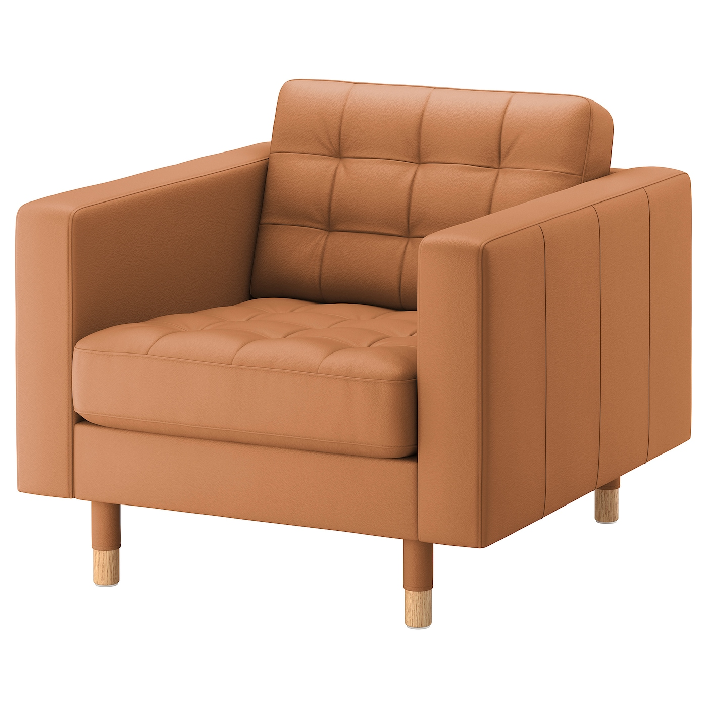 IKEA LANDSKRONA Fotel, Grann, Bomstad złoto-brązowy/drewno