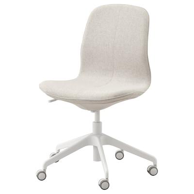 LÅNGFJÄLL Krzesło biurowe, Gunnared beżowy/biały