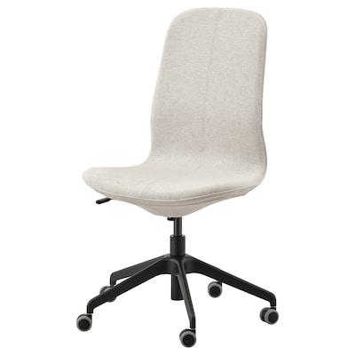 LÅNGFJÄLL Krzesło biurowe, Gunnared beżowy/czarny
