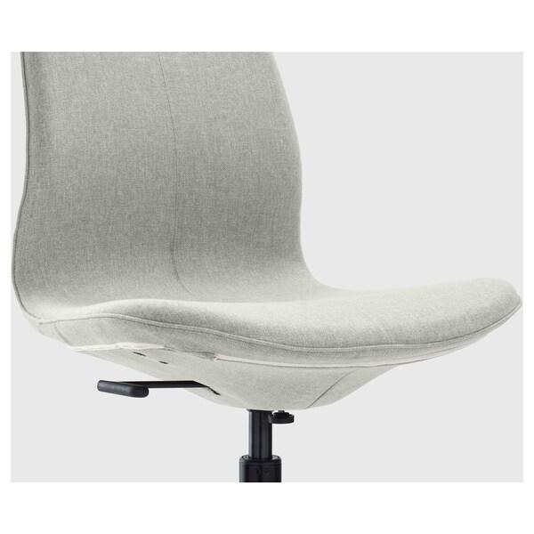 LÅNGFJÄLL Krzesło biurowe, Gunnared jasnozielony/czarny