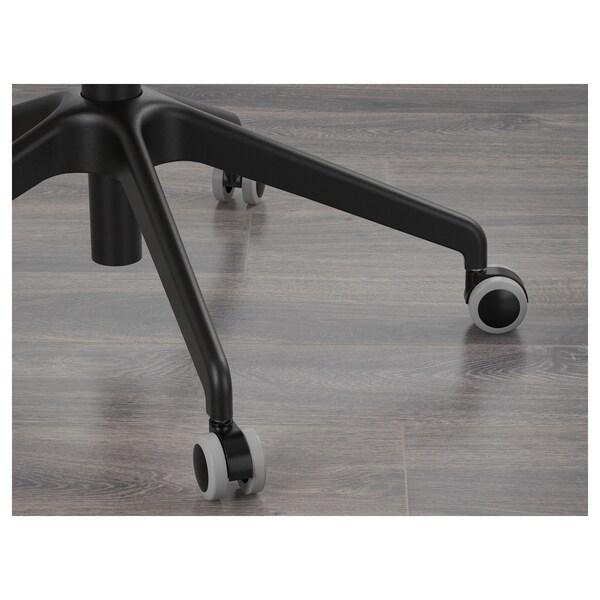 LÅNGFJÄLL Krzesło biurowe z podłokietnikami, Gunnared jasnozielony/czarny