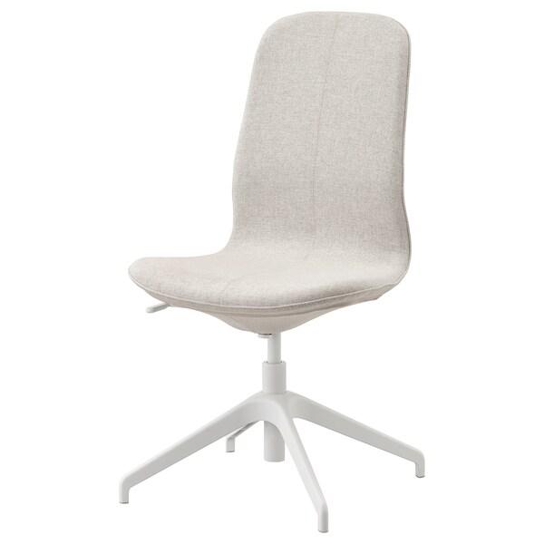 LÅNGFJÄLL Krzesło konferencyjne, Gunnared beżowy/biały