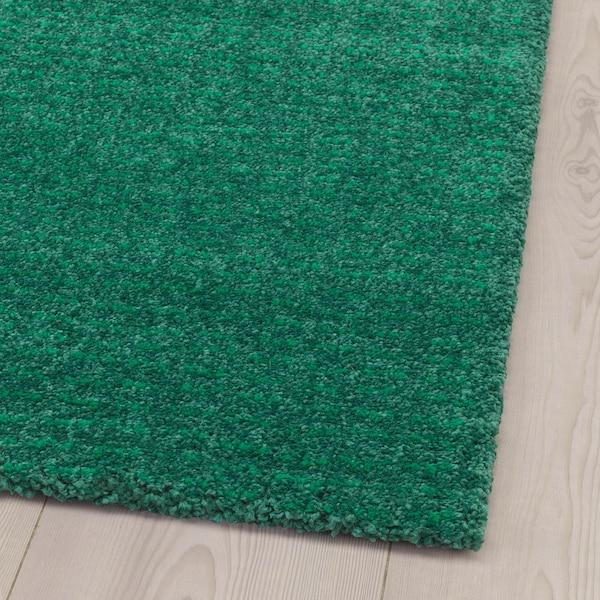 LANGSTED Dywan z krótkim włosiem, zielony, 60x90 cm