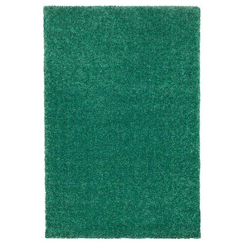 LANGSTED dywan z krótkim włosiem zielony 90 cm 60 cm 13 mm 0.54 m² 2500 g/m² 1030 g/m² 9 mm