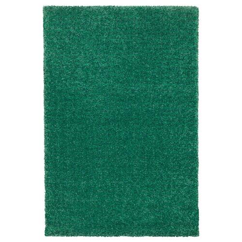 LANGSTED dywan z krótkim włosiem zielony 195 cm 133 cm 13 mm 2.59 m² 2500 g/m² 1030 g/m² 9 mm