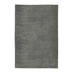 ЛАНГСТЕД Ковер, короткий ворс, светло-серый, 60x90 см  - Икеа Украина