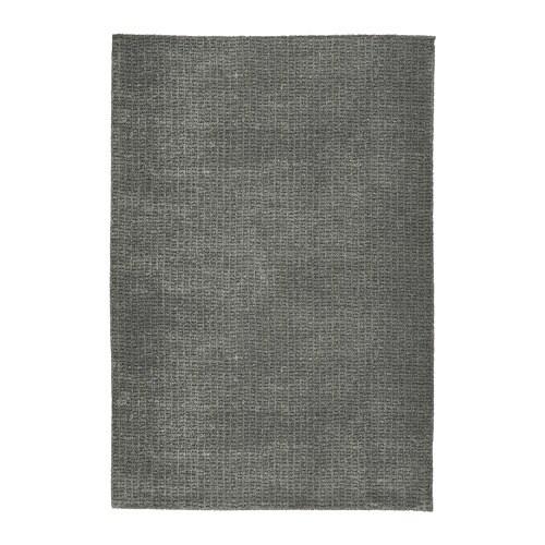 LANGSTED Paklājs, ar īsām plūksnām, gaiši pelēks, 133x195 cm