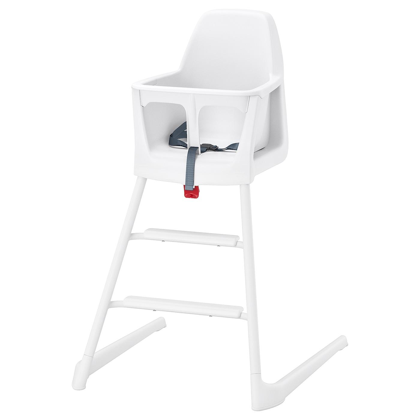 IKEA LANGUR Krzesło dziecięce/wysokie, biały
