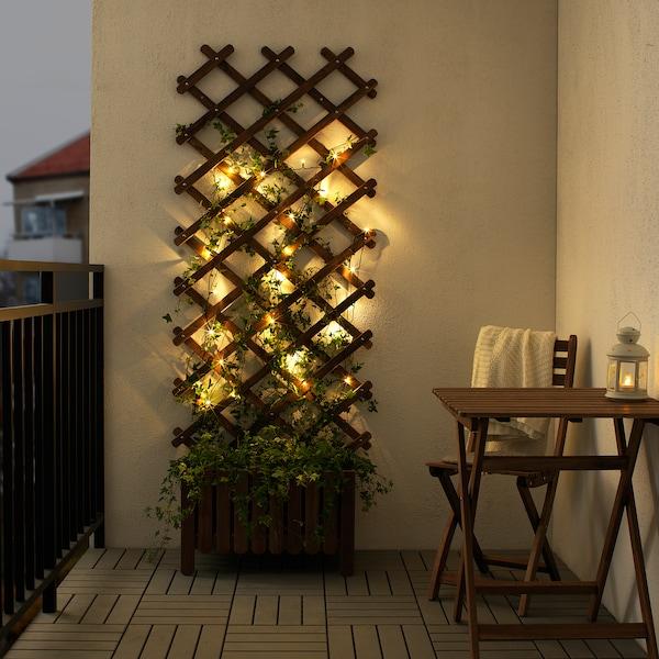 LEDLJUS girlanda LED, 24 lampki zewnętrzne czarny 50 lm 15 cm 4 m 1 Wat 7.5 m