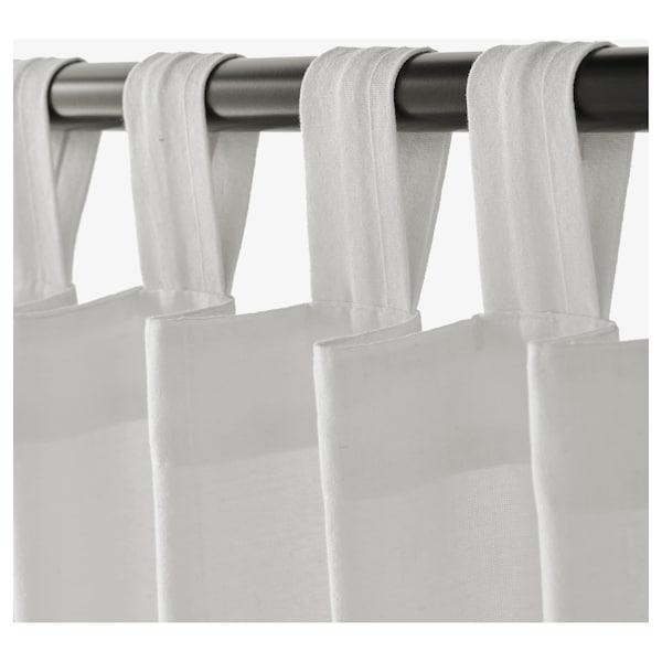 LENDA zasłona z wiązaniem, 2 szt. biały 300 cm 140 cm 2.10 kg 4.20 m² 2 szt.