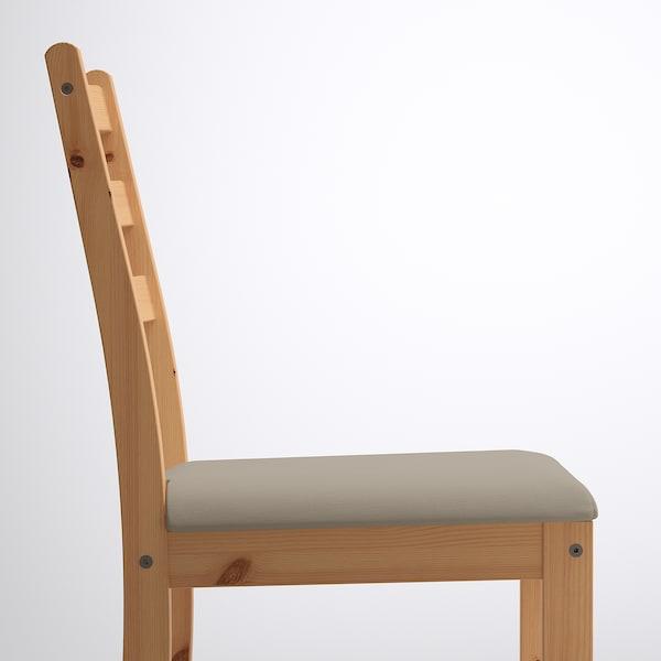 LERHAMN Stół i 2 krzesła, bejca jasna patyna biała bejca/Vittaryd beżowy, 74x74 cm