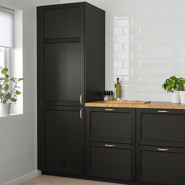LERHYTTAN Drzwi, bejcowane na czarno, 40x80 cm