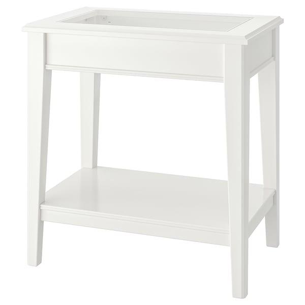 LIATORP stolik biały/szkło 57 cm 40 cm 60 cm