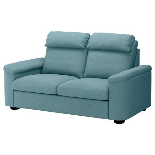 LIDHULT sofa 2-osobowa rozkładana Gassebol niebieski/szary 102 cm 76 cm 208 cm 98 cm 7 cm 53 cm 45 cm 140 cm 200 cm