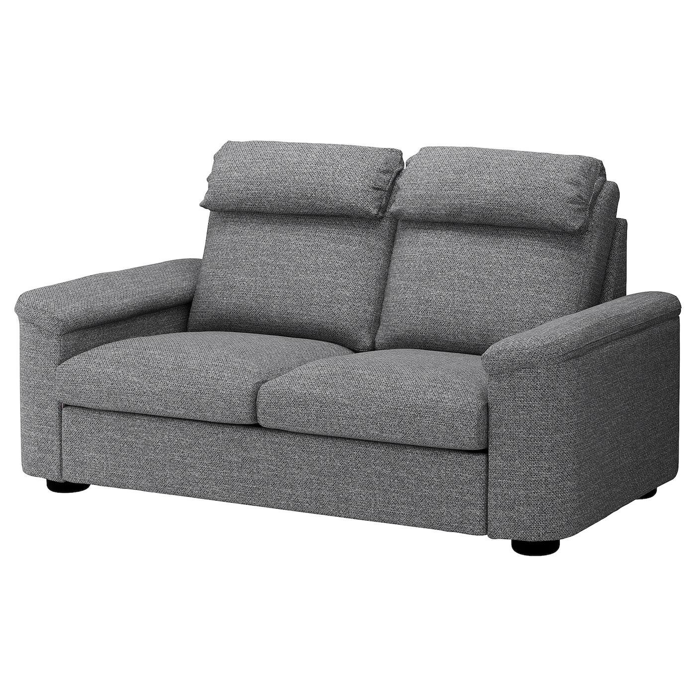 IKEA LIDHULT Sofa 2-osobowa, Lejde szary-czarny