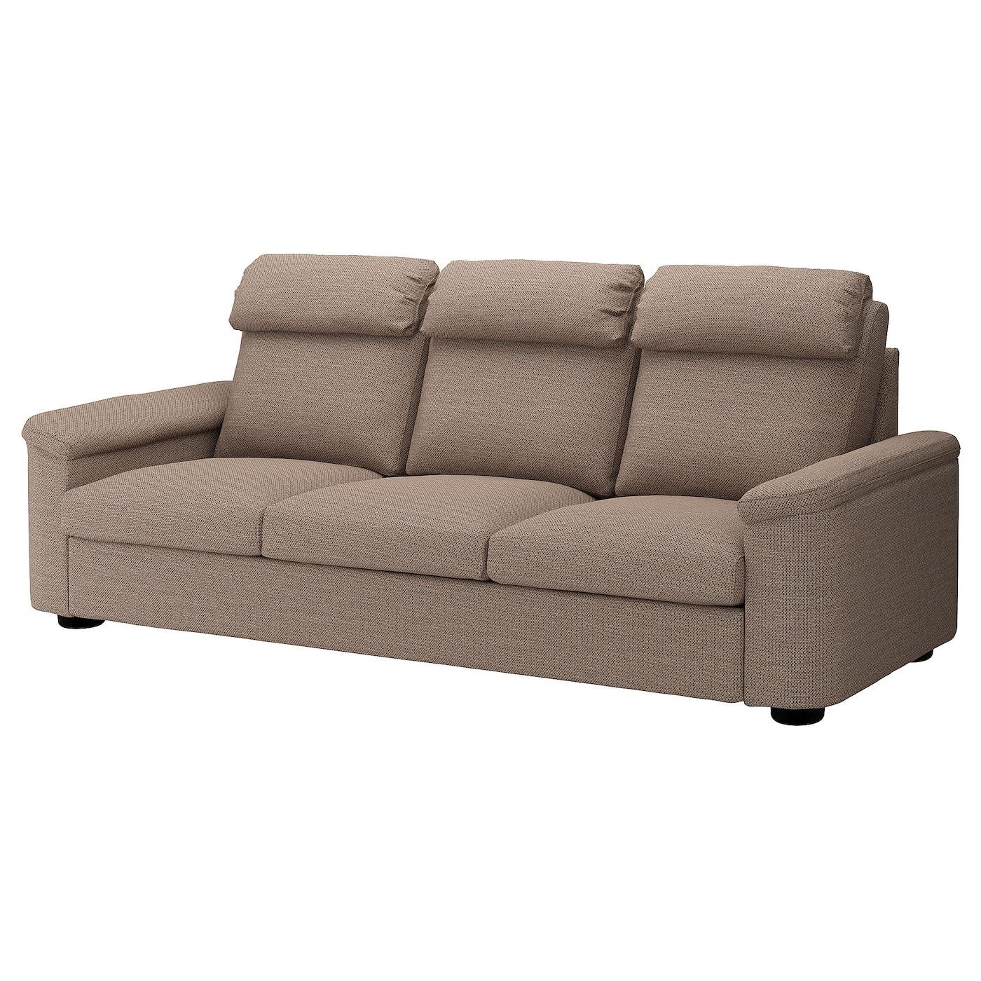 IKEA LIDHULT Sofa 3-osobowa, Lejde beż/brąz