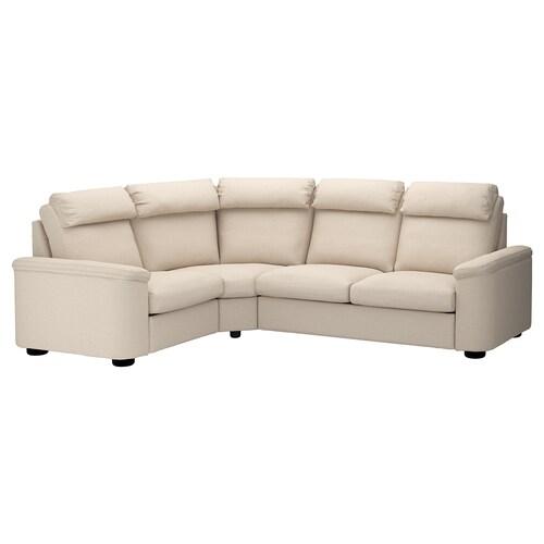 LIDHULT sofa narożna 4-osobowa Gassebol jasnobeżowy 102 cm 76 cm 98 cm 275 cm 205 cm 7 cm 53 cm 45 cm