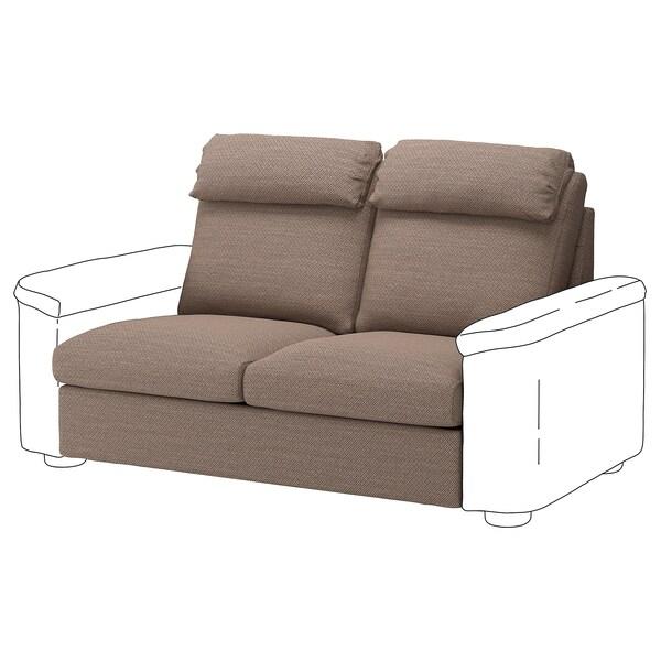 LIDHULT Sekcja 2-os sofa rozkładana, Lejde beż/brąz
