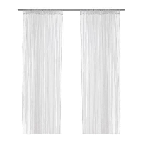 LILL Firanki, 1 para IKEA Firanki przepuszczają światło dzienne, ale zapewniają intymność, dlatego są idealne w oknach z rozwiązaniem wielowarstwowym.