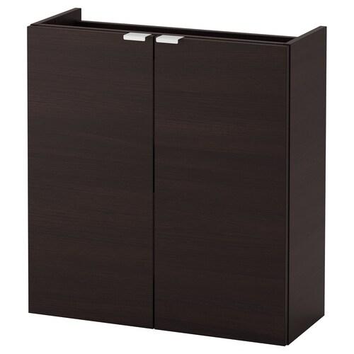 LILLÅNGEN szafka pod umywalkę z 2 drzwiami czarnybrąz 60 cm 25 cm 64 cm