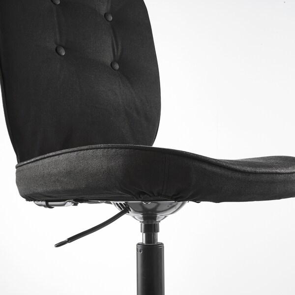 LILLHÖJDEN Krzesło obrotowe, Idemo Idemo czarny czarny