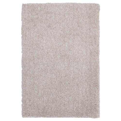 LINDKNUD dywan z długim włosiem beżowy 90 cm 60 cm 9 mm 0.54 m² 1610 g/m² 950 g/m² 26 mm