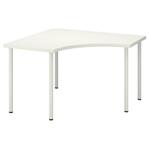 LINNMON / ADILS biurko narożne biały 120 cm 120 cm 74 cm 50 kg