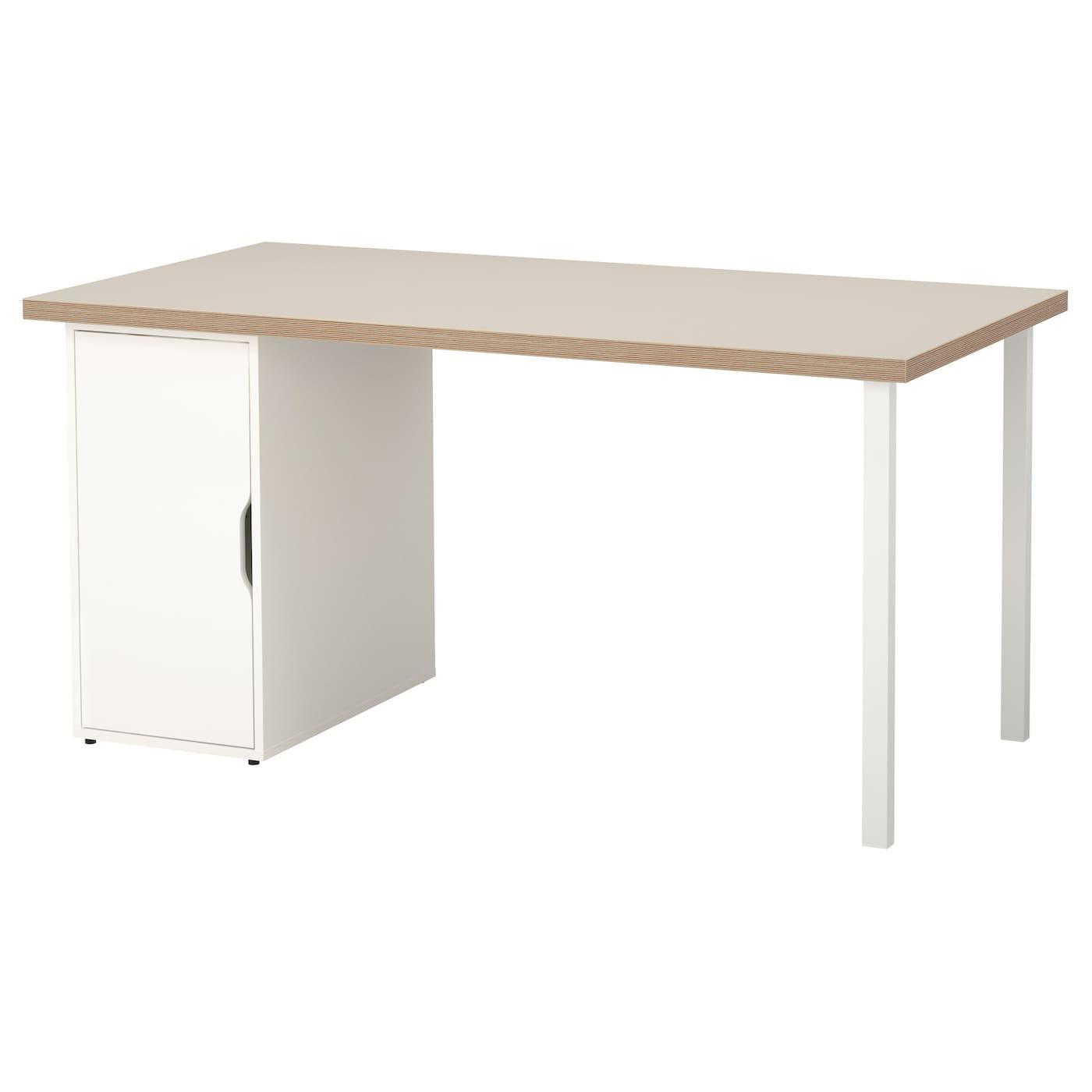 IKEA LINNMON / ALEX Stół, beżowy, biały, 150x75 cm
