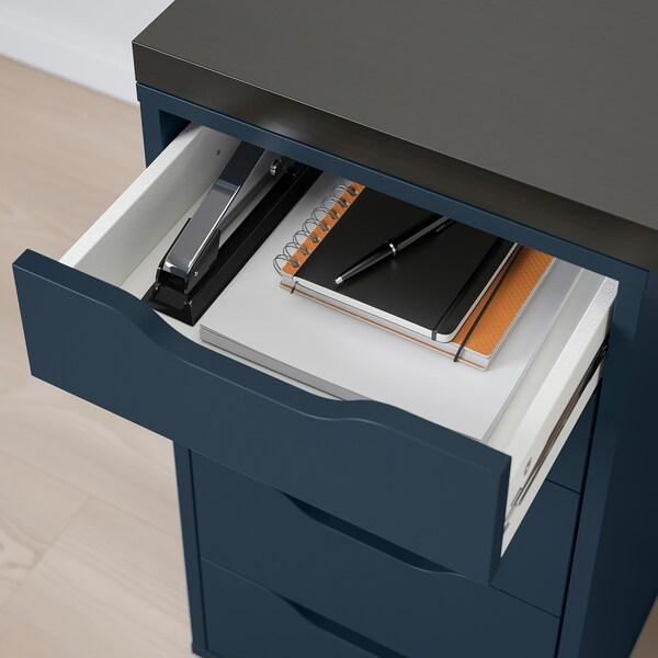 LINNMON / ALEX stół czarnybrąz/niebieski 150 cm 75 cm 74 cm 50 kg