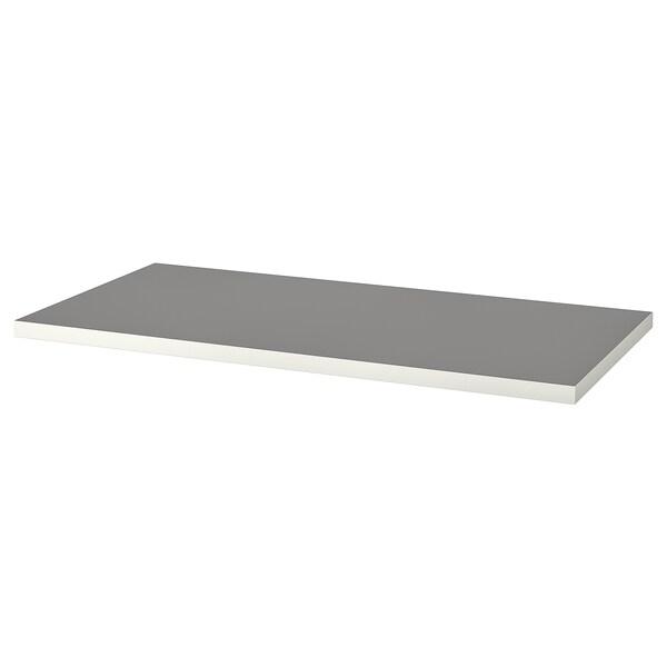 LINNMON Blat, jasnoszary/biały, 120x60 cm