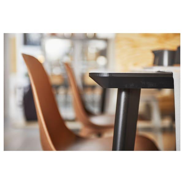 LISABO Stół, czarny, 140x78 cm