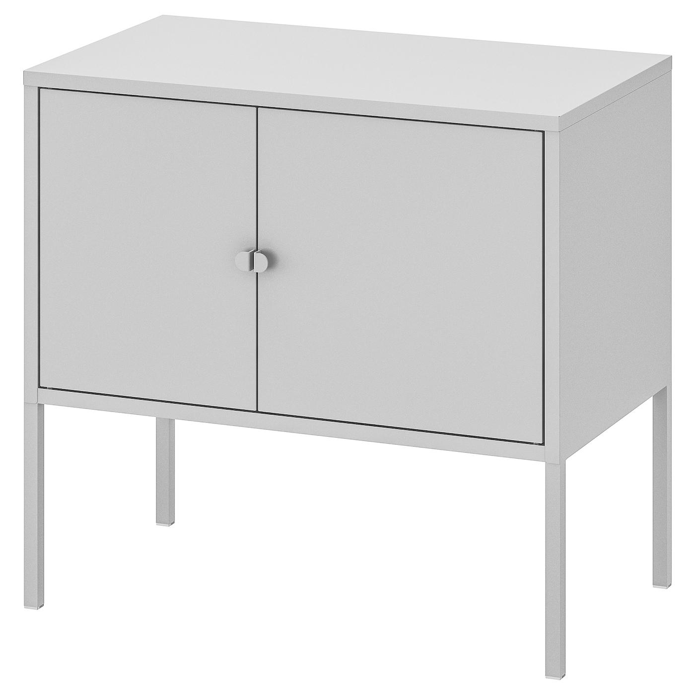 IKEA LIXHULT szara metalowa szafka, 60x35 cm