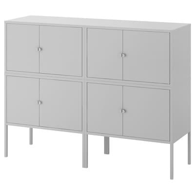 LIXHULT Kombinacja szafek, szary, 120x35x92 cm