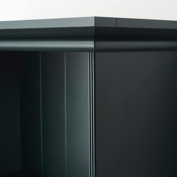 LOMMARP Regał, ciemnoniebieski-zielony, 65x199 cm