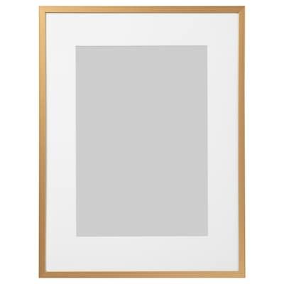 LOMVIKEN Ramka, złoty kolor, 30x40 cm