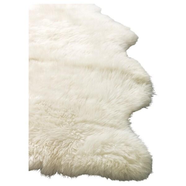 LUDDE skóra owcza biały 80 cm 45 cm 0.38 m²