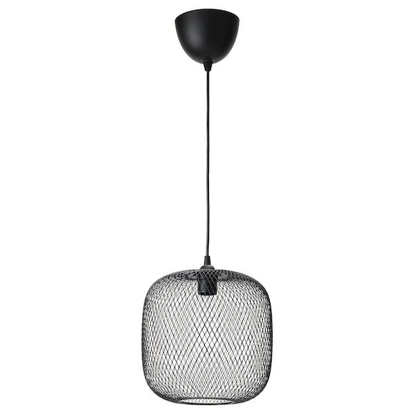 LUFTMASSA / HEMMA Lampa wisząca, zaokrąglony/czarny, 26 cm