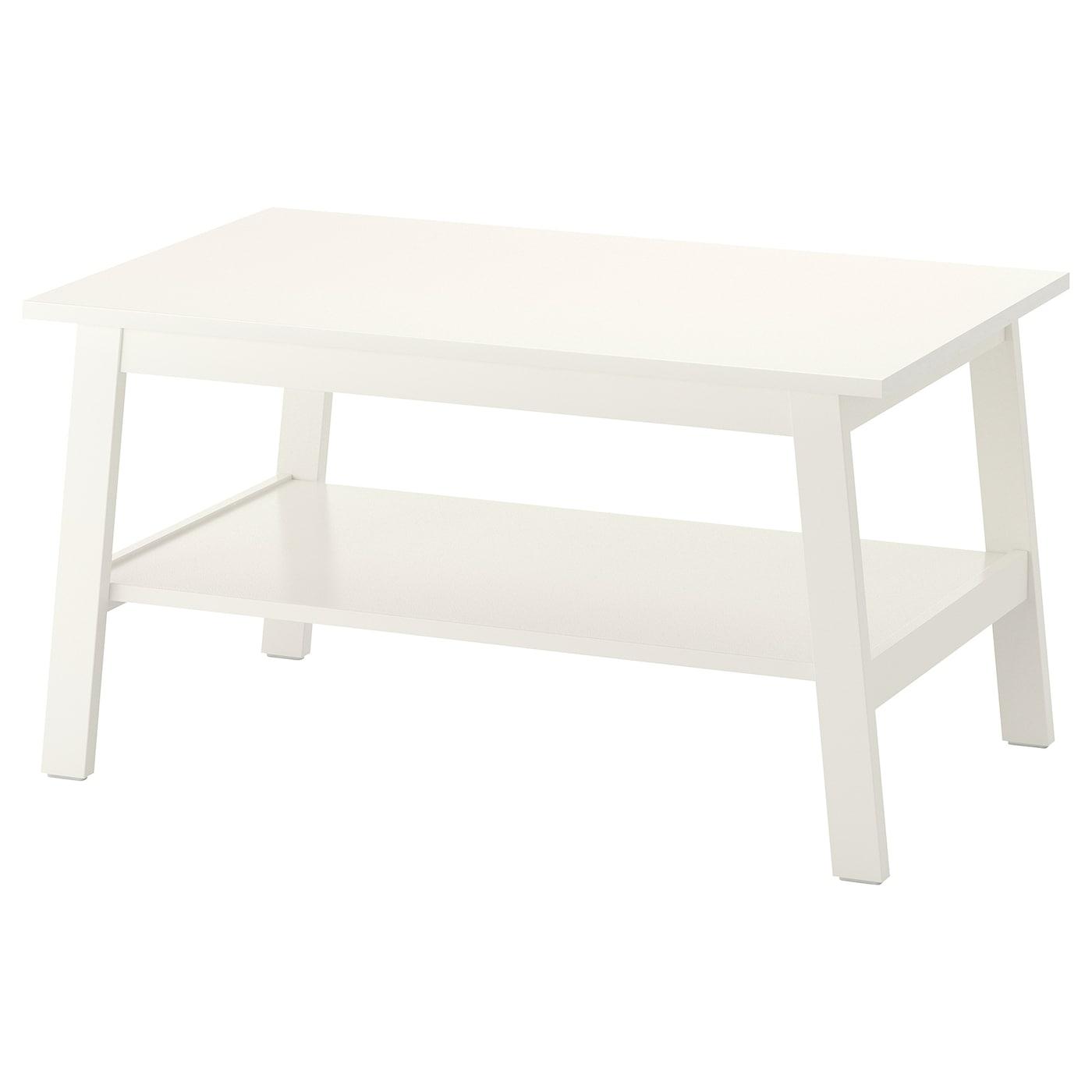 IKEA LUNNARP biały stolik kawowy, 90x55 cm
