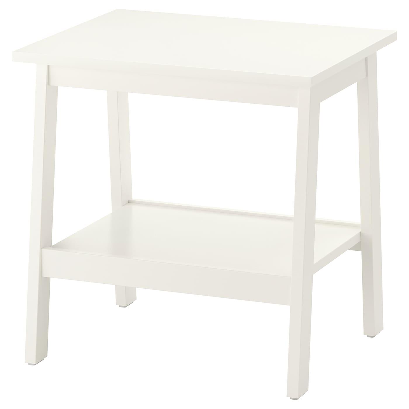 IKEA LUNNARP biały stolik, 55x45 cm