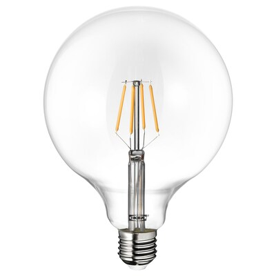 LUNNOM Żarówka LED E27 600 lumenów, kula szkło bezbarwne, 125 mm