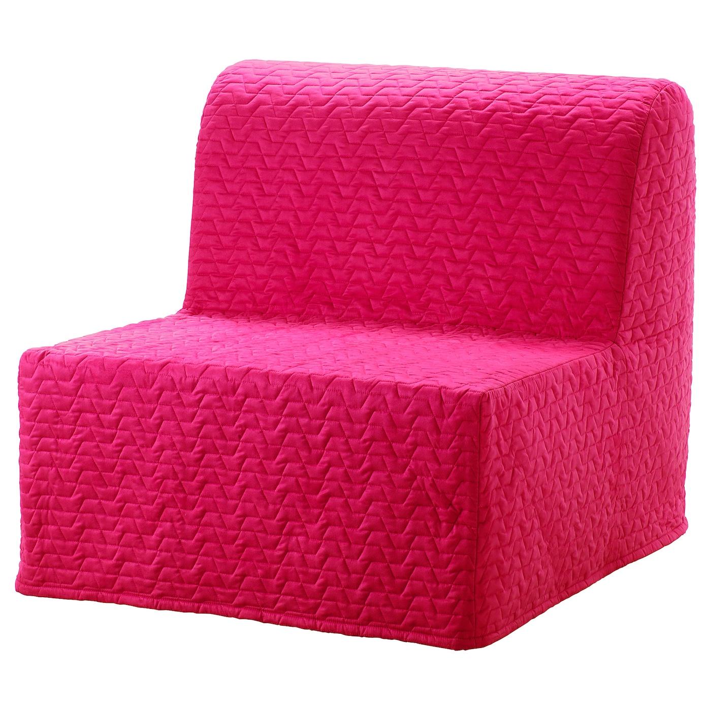 IKEA LYCKSELE LÖVÅS Fotel rozkładany, Vallarum amarantowy