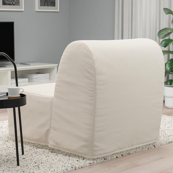 LYCKSELE LÖVÅS Fotel rozkładany, Ransta naturalny