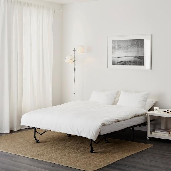 LYCKSELE LÖVÅS sofa dwuosobowa rozkładana Ransta biały 142 cm 100 cm 87 cm 60 cm 39 cm 140 cm 188 cm 188 cm 140 cm 10 cm