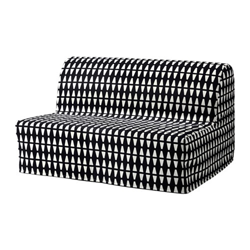 lycksele l v s sofa dwuosobowa rozk adana ebbarp czarny bia y ikea. Black Bedroom Furniture Sets. Home Design Ideas