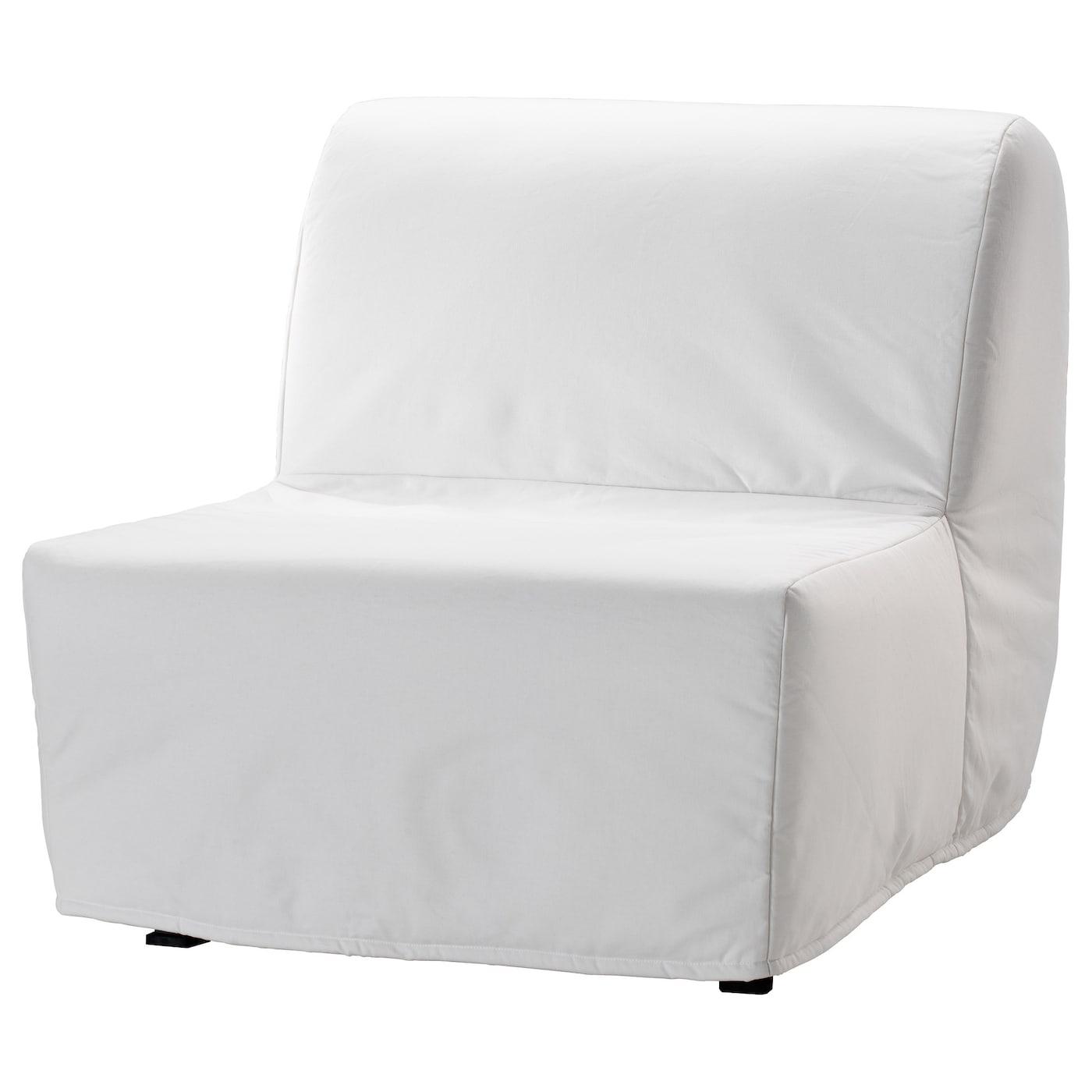 IKEA LYCKSELE MURBO biały fotel rozkładany