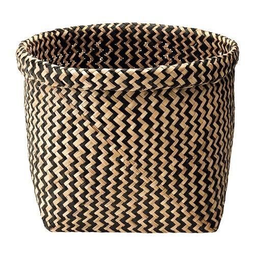 MAGGA Kosz IKEA Pleciony ręcznie, dzięki czemu każdy kosz jest niepowtarzalny.