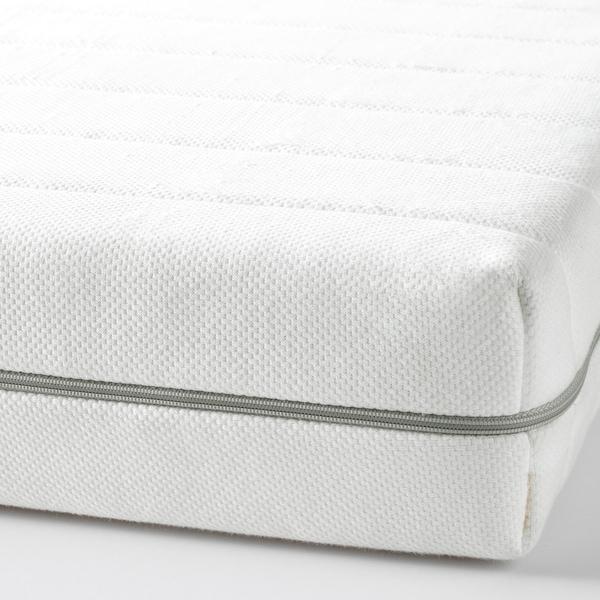 MALFORS Materac piankowy, średnio twardy/biały, 80x200 cm