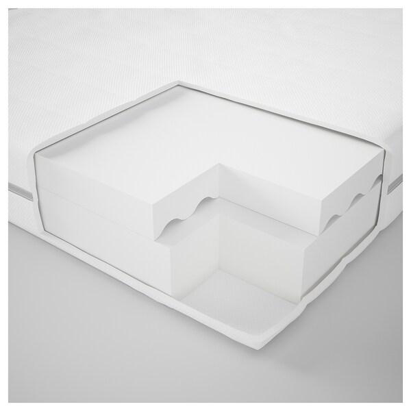 MALFORS Materac piankowy, twardy/biały, 90x200 cm