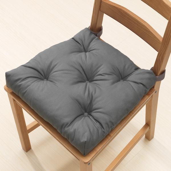 MALINDA Poduszka na krzesło, szary, 40/35x38x7 cm
